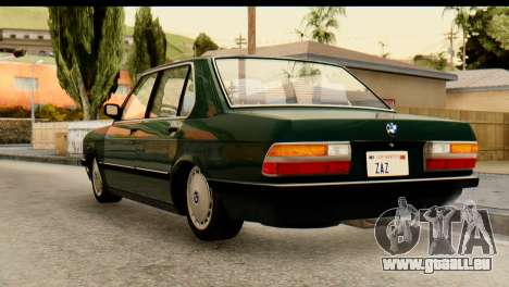 BMW M5 E28 Edit pour GTA San Andreas laissé vue