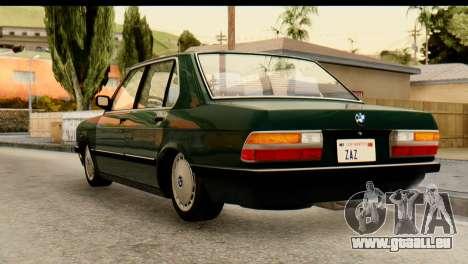 BMW M5 E28 Edit für GTA San Andreas linke Ansicht