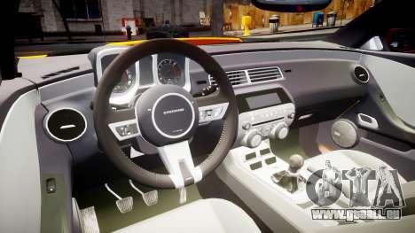 Chevrolet Camaro SS pour GTA 4 Vue arrière