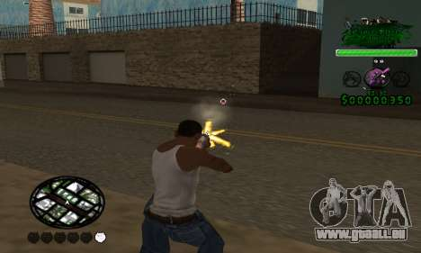 C-HUD Grove St. Family für GTA San Andreas zweiten Screenshot