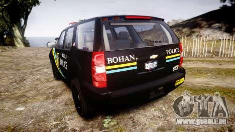 Chevrolet Tahoe 2010 Sheriff Bohan [ELS] pour GTA 4 Vue arrière de la gauche