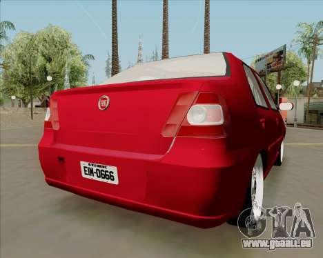 Fiat Siena 2008 pour GTA San Andreas laissé vue
