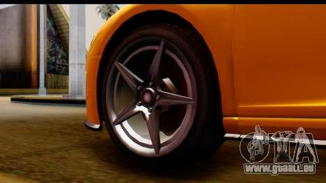 GTA 5 Obey 9F Coupe pour GTA San Andreas sur la vue arrière gauche