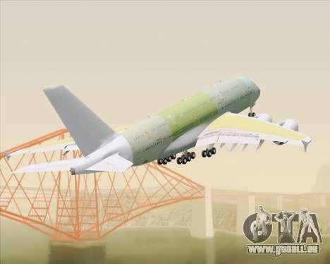 Airbus A380-800 F-WWDD Not Painted pour GTA San Andreas vue de dessous