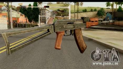 L'AKS-74 en Bois Foncé pour GTA San Andreas deuxième écran