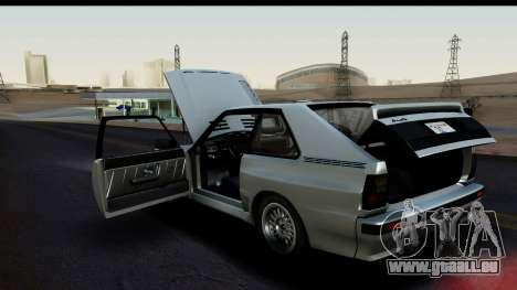 Audi Sport Quattro B2 (Typ 85Q) 1983 [HQLM] für GTA San Andreas Rückansicht