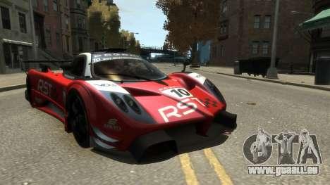 Pagani Zonda R pour GTA 4 Vue arrière