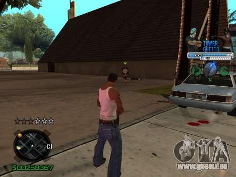 C-HUD для Ghetto pour GTA San Andreas deuxième écran