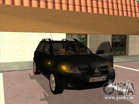 Mitsubishi Outlander pour GTA San Andreas vue de droite