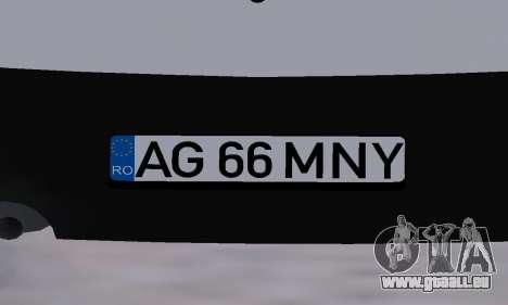 Dacia Logan Taxi für GTA San Andreas Unteransicht