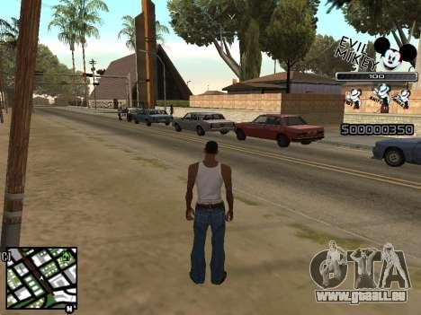 C-HUD Evil Mickey pour GTA San Andreas deuxième écran