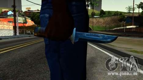Knife from Kuma War für GTA San Andreas dritten Screenshot