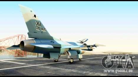 F-16 Aggressor Alaska für GTA San Andreas zurück linke Ansicht