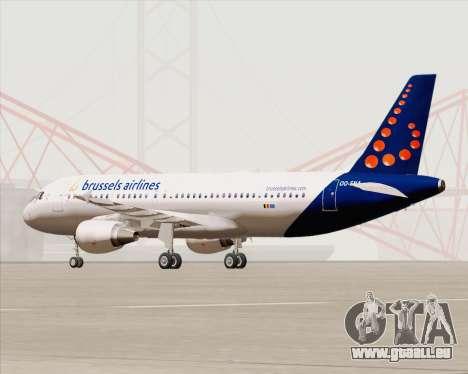 Airbus A320-200 Brussels Airlines pour GTA San Andreas sur la vue arrière gauche
