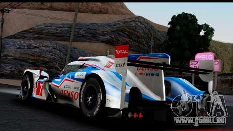 Toyota TS040 Hybrid 2014 für GTA San Andreas linke Ansicht