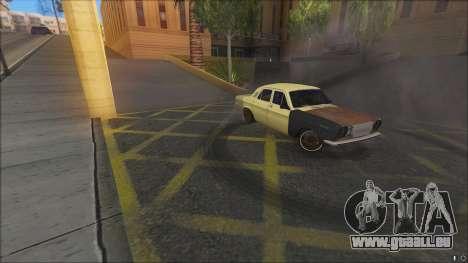 ГАЗ 2410 DÉRIVE SPL IP pour GTA San Andreas sur la vue arrière gauche