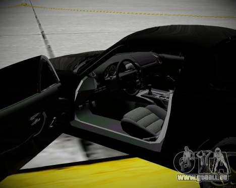 Mazda MX-5 JDM pour GTA San Andreas vue intérieure