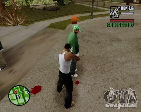 Indicateur numérique de vie adversaires pour GTA San Andreas deuxième écran