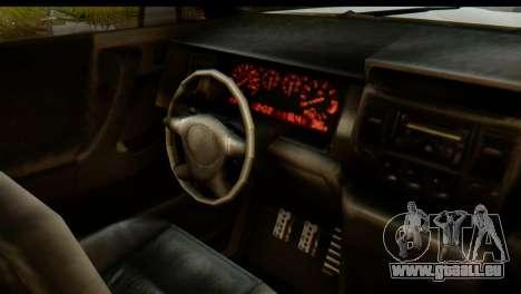 GTA 5 Vapid Sandking XL IVF pour GTA San Andreas vue intérieure