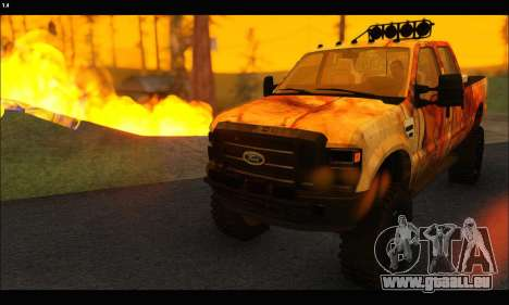 Ford F-250 Rusty Lifted 2010 pour GTA San Andreas vue de droite