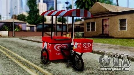 Selecta Ice Cream Bike für GTA San Andreas linke Ansicht