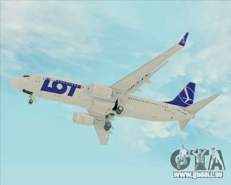 Boeing 737-800 LOT Polish Airlines für GTA San Andreas Innenansicht