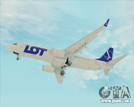 Boeing 737-800 LOT Polish Airlines pour GTA San Andreas vue intérieure