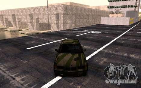 BMW M3 E36 Hunter pour GTA San Andreas sur la vue arrière gauche