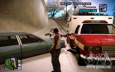 HUD by Weezy pour GTA San Andreas deuxième écran