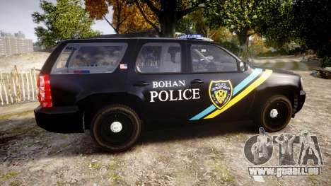Chevrolet Tahoe 2010 Sheriff Bohan [ELS] pour GTA 4 est une gauche