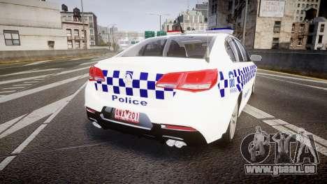 Holden VF Commodore SS Victorian Police [ELS] für GTA 4 hinten links Ansicht