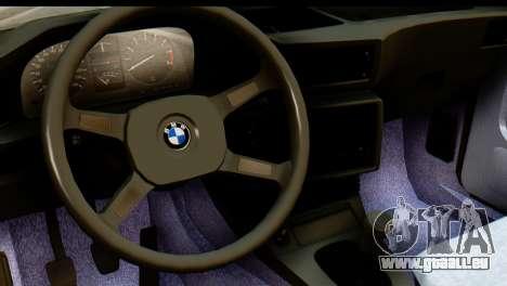 BMW M5 E28 Edit pour GTA San Andreas vue de droite