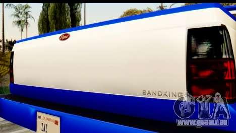 GTA 5 Vapid Sandking XL IVF für GTA San Andreas Rückansicht