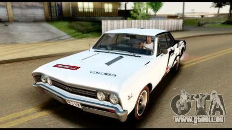 Chevrolet Chevelle SS 396 L78 Hardtop Coupe 1967 pour GTA San Andreas salon