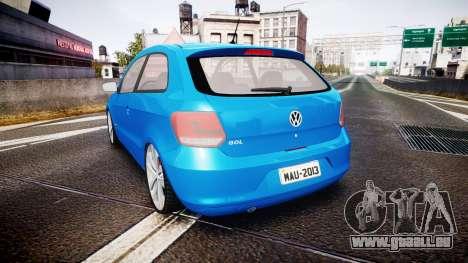 Volkswagen Gol G6 iTrend 2014 rims2 für GTA 4 hinten links Ansicht