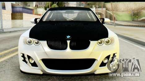 BMW M3 GTS Tuned v1 pour GTA San Andreas vue arrière