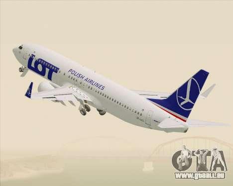Boeing 737-800 LOT Polish Airlines pour GTA San Andreas vue de dessous