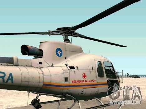 Bo 105 EMERCOM de Russie pour GTA San Andreas laissé vue