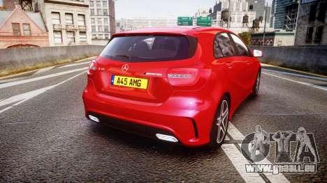 Mersedes-Benz A45 AMG pour GTA 4 Vue arrière de la gauche