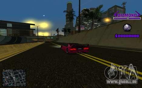 C-HUD Diamond Gangster pour GTA San Andreas cinquième écran