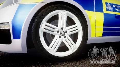 Skoda Octavia Combi vRS 2014 [ELS] ANPR&Area pour GTA 4 Vue arrière