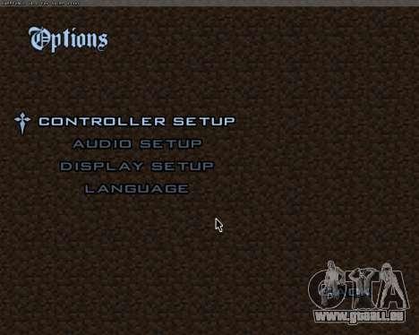 Minecraft Menu pour GTA San Andreas deuxième écran