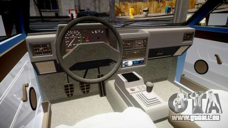 Volkswagen Voyage 1990 für GTA 4 Innenansicht