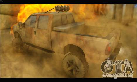 Ford F-250 Rusty Lifted 2010 für GTA San Andreas linke Ansicht