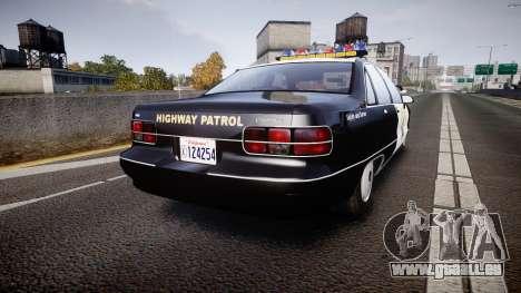 Chevrolet Caprice Highway Patrol [ELS] pour GTA 4 Vue arrière de la gauche