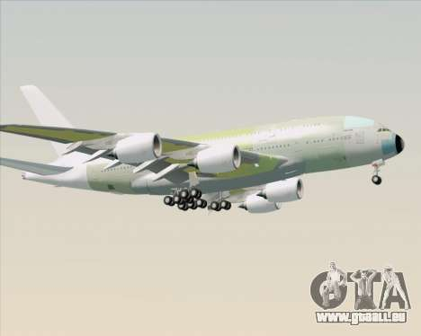 Airbus A380-800 F-WWDD Not Painted pour GTA San Andreas sur la vue arrière gauche