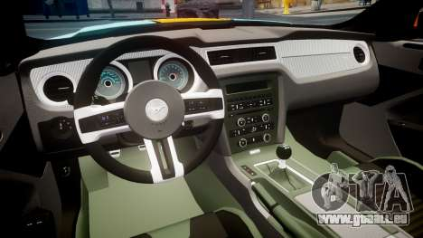 Ford Mustang Boss 302 2013 Gulf pour GTA 4 Vue arrière