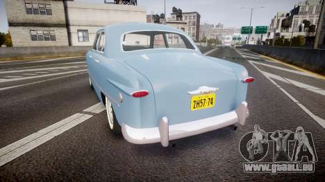 Ford Custom Fordor 1949 pour GTA 4 Vue arrière de la gauche