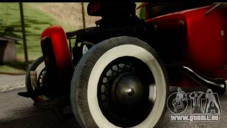 Smith 34 Hot Rod pour GTA San Andreas sur la vue arrière gauche