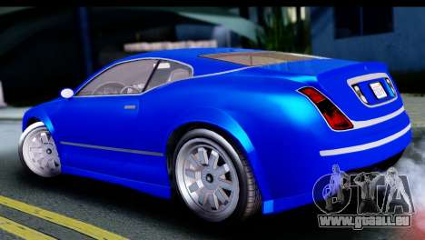 GTA 5 Enus Cognoscenti Cabrio für GTA San Andreas zurück linke Ansicht